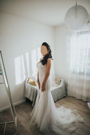 Piękna suknia ślubna SYRENKA ! Rozmiar 36-38 ! Jak Nowa !