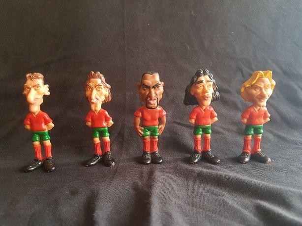 Bonecos caricaturas de jogadores da seleção nacional - Euro 96