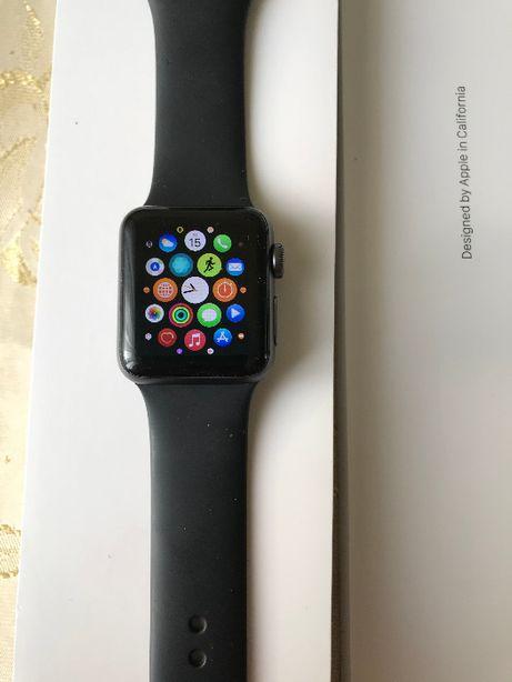 Apple Watch Series 3 38mm Space Grey Aluminium Case with Black Sport