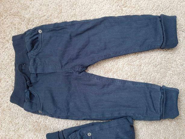 Теплые штаны на флисе для двойни