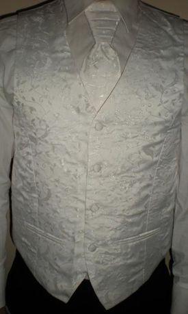 Kamizelka ślubna biała z musznikiem