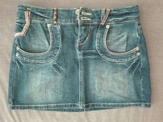 BIG STAR spódniczka mini jeansowa S