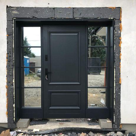 drzwi zewnętrzne drewniane ciepłe UD=1.1 program czyste powietrze