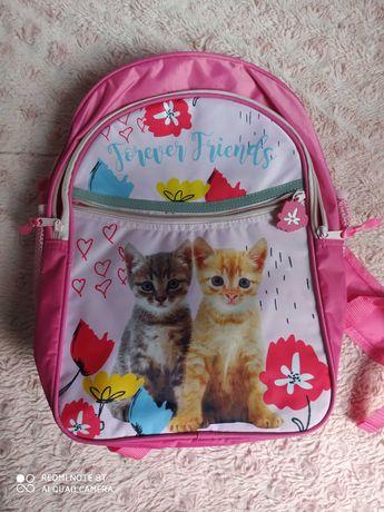 Продам новый школьный рюкзак с котятами розовый