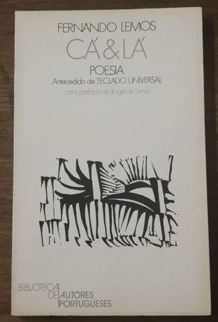 cá & lá poesia, fernando lemos, jorge de sena, autores portugueses