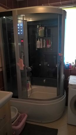 Kabina prysznicowa Kerra 120x80 duża wysoki brodzik wygodna,zadbana