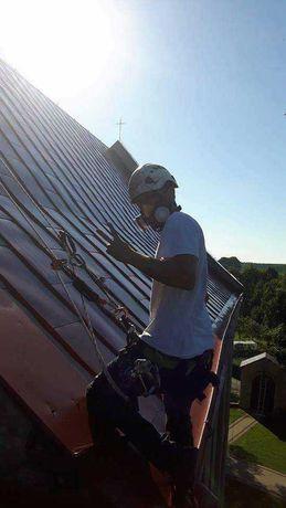 Malowanie dachów ,dachu ,malowanie hal ,hali,wycinka drzew zwyżka