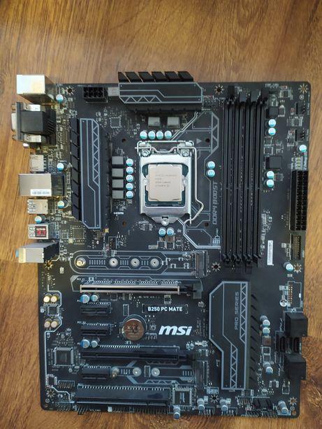 MSI B250 PC MATE + Celeron g3930