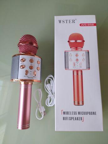 Микрофон Беспроводной караоке микрофон блютуз USB