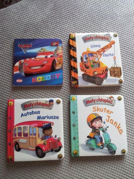 mały chłopiec autobus dźwig skuter mc książeczki