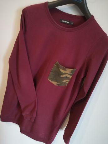 Bordowa bluza #moro