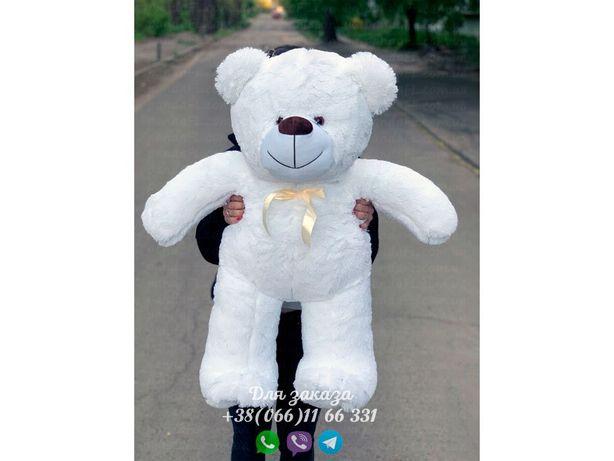 Плюшевый мишка белый 100 см.Мягкая игрушка.Купить мишку.Медведь