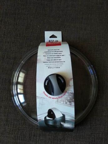 Стеклянная крышка с паровыпуском, Вallarini, 26 см, 32 см, Италия