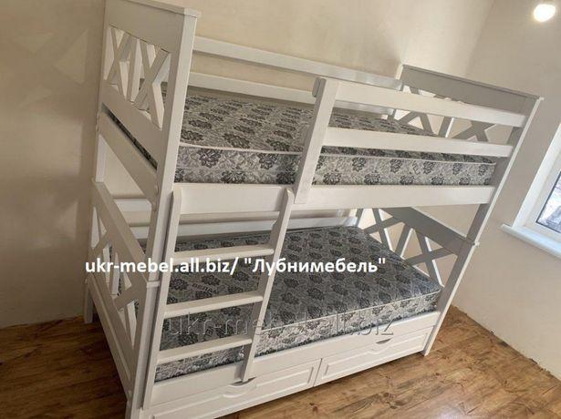 Кровать двухъярусная деревянная Тян, двоярусне (двоповерхове) ліжко