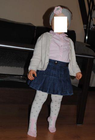 08-> piękna koszula długi rękaw H&M cukierkowy róż r.86 12-18mca