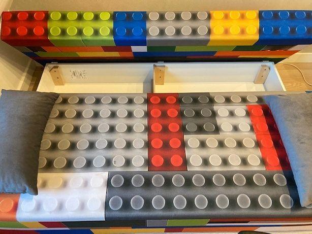 Lego łóżko, rozkładane, pojemnik na pościel