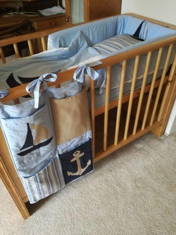 Pościel do łóżeczka 12 elementów, dwa komplety+becik gratis