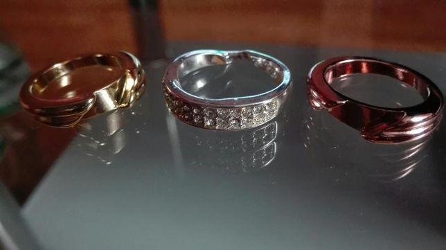 Zestaw 3 pierścionków