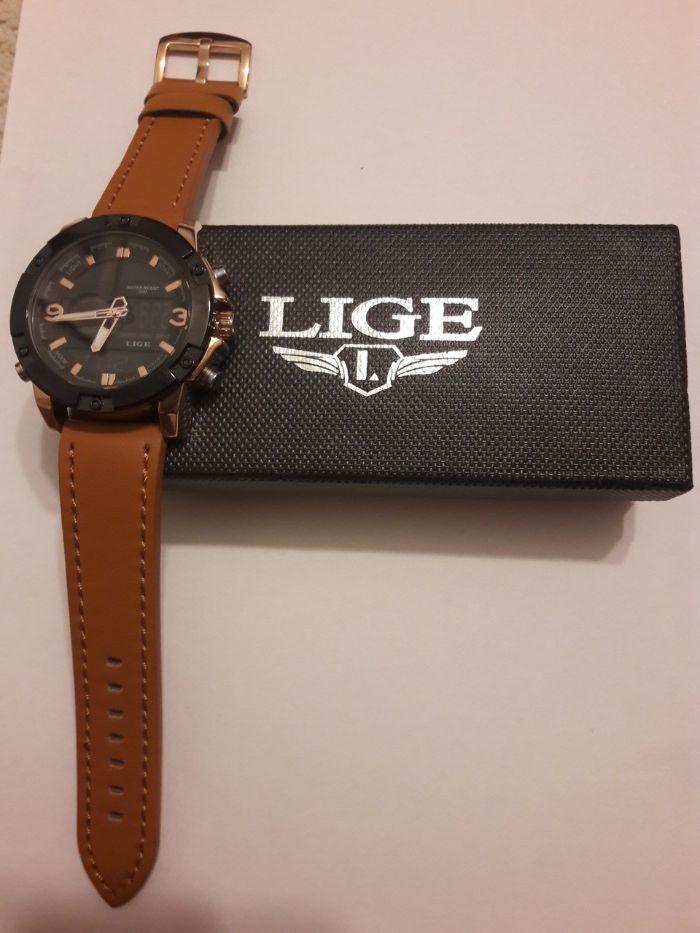 Zegarek meski Lige 2020 LED podwójny wyświetlacz+gratis Olsztyn - image 1