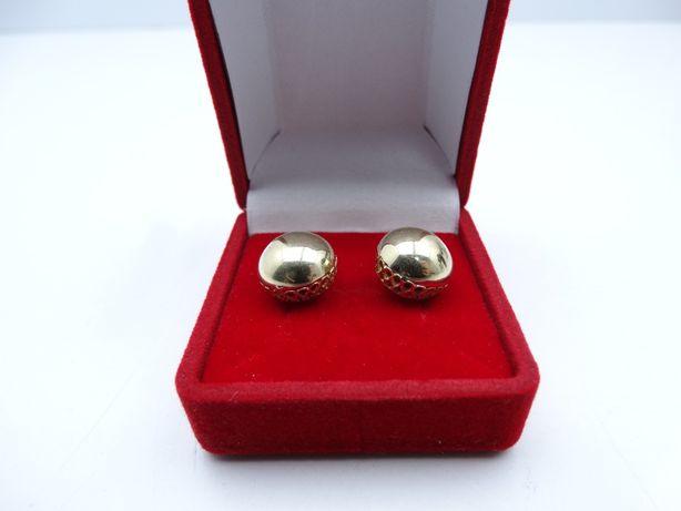 Piękne złote kolczyki P585 3,51g 14K LOMBARD66