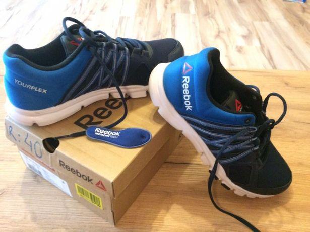 Reebok crossfit buty r 40.5 niebieskie nowe adidasy sportowe