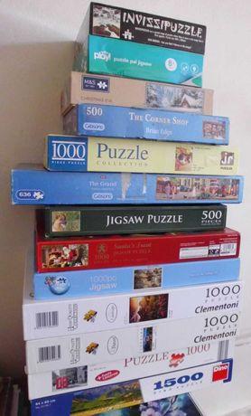 puzzle różne 500, 1000, 1500 kot krajobraz zamek przyroda zima mikołaj