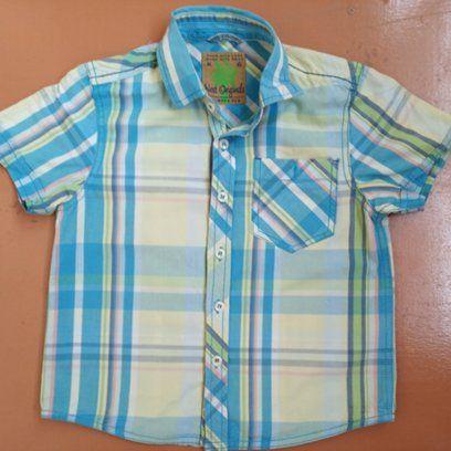 Літня жовто-блакитна сорочка фірми Next з коротким рукавом