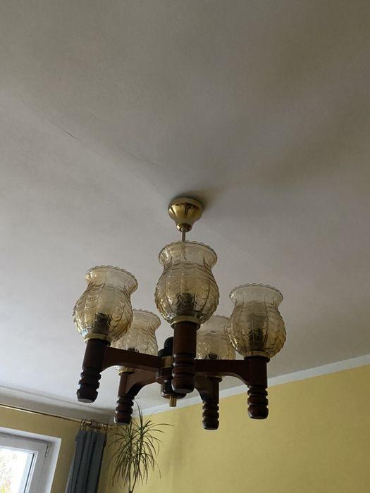 Lampa wisząca sufitowa drewniana Poznań - image 1