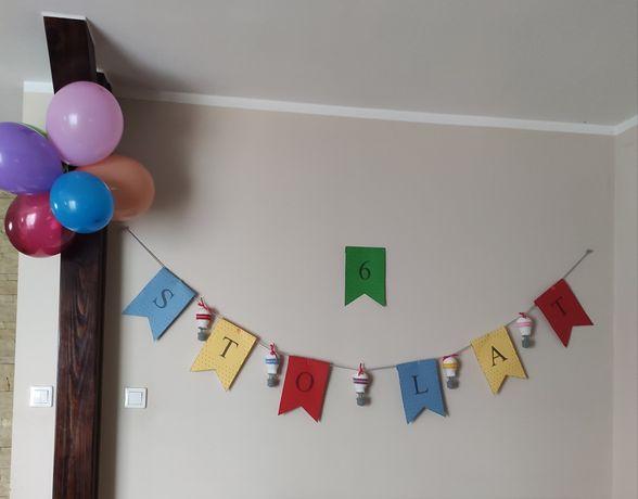 Girlanda z balonami ozdoba do pokoju dziecięcego