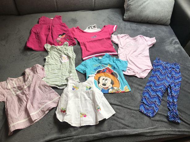 Paka ubran dla dziewczynki 80-86