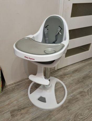 Nowe obrotowe krzesełko do karmienia FLORA moby system szare