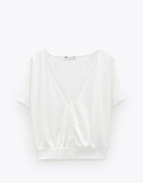 Zara, biała koszulka, nowa Poznań - image 1