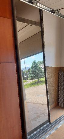 Drzwi przesuwne lustrzane do szafy, brązowe lustra 2 szt.