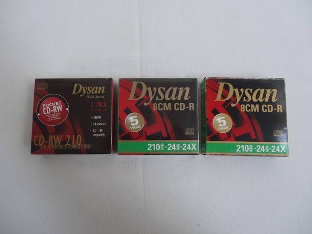Płyty CD Dysan 8cm CD-R CD-RW 15 sztuk unikalne nowe