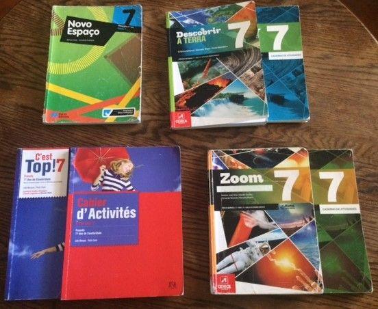 Livros e cadernos de actividades do 7º ano