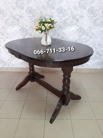 Дерев'яний стіл Карпати.  Кухонний столик.
