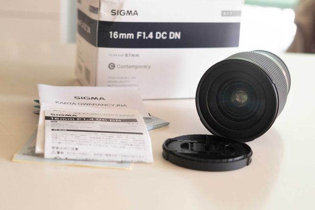 Obiektyw Sigma 16mm f1.4  DC DN Sony E