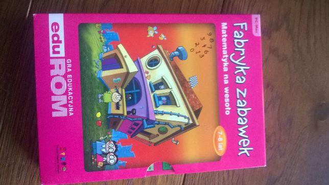 Gra edukacyjna na PC MATEMATYKA NA WESOŁO - Fabryka Zabawek 7-8 LAT