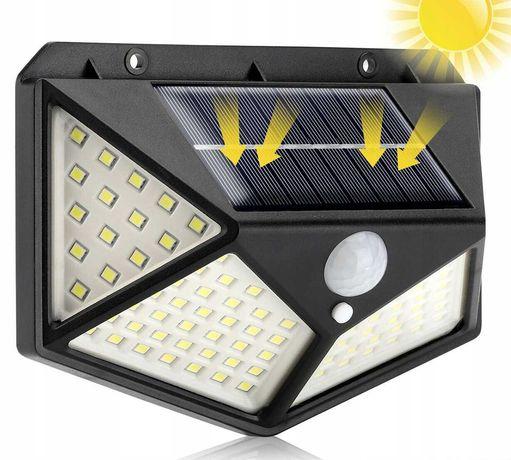 LAMPA SOLARNA z czujnikiem ruchu zmierzchu 100LED szerokokątna