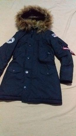Куртка-парка,для мальчика-подростка-ALPHA INDUSTRIES-XS оригинал