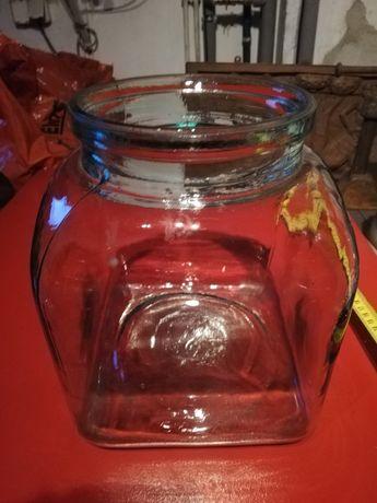 Stary duży szklany pojemnik 79 rok