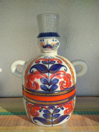Штоф, графин, фарфор, козак, посуда СССР
