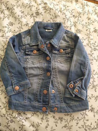 Katana kurtka jeansowa ff 9-12m dla dziewczynki jak nowa r. 80