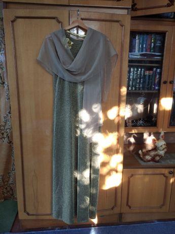 Вечернее платье, золотое, большой размер
