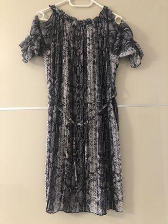 Sukienka plisowana wężowy wzór M/L