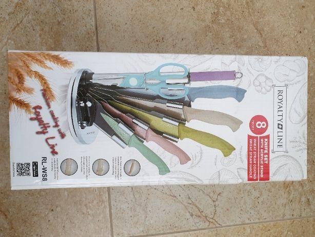 Набор кухонных ножей ROYALTY LINE - WS8 с поворотной подставкой