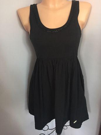 Sukienka SuperDry super Dry Xs S czarna na szerokie ramiączka