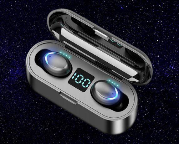 Słuchawki bezprzewodowe bluetooth 5.0 Power bank Mikrofon długa praca