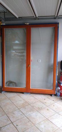 Okno balkonowe drewniane 175x213