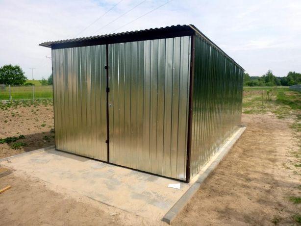 Garaż blaszany Blaszak 3x5 na budowę Garaże WZMOCNIONE szybka dostawa